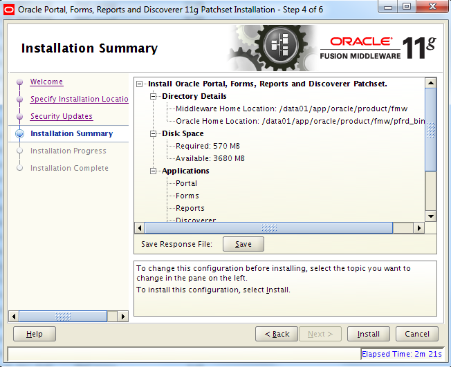 Installing Oracle Forms/Reports 11 1 1 4 on Red Hat 5 (64-bit)