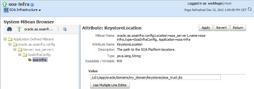 Configuring outbound SSL for the SOA Suite